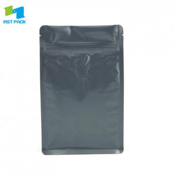 250g Matte Black Coffee Zipper Pouch